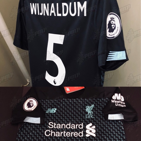 sports shoes 647c3 6ebcc New Liverpool Georginio Wijnaldum #5 Soccer Jersey
